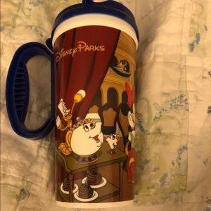 Rare Disney Beauty and the Beast travel mug
